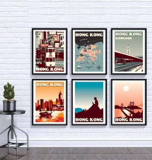 Image of Hong Kong Print Set | Set of 6 Prints | Gallery Wall Set | Choose any 6 prints in my shop
