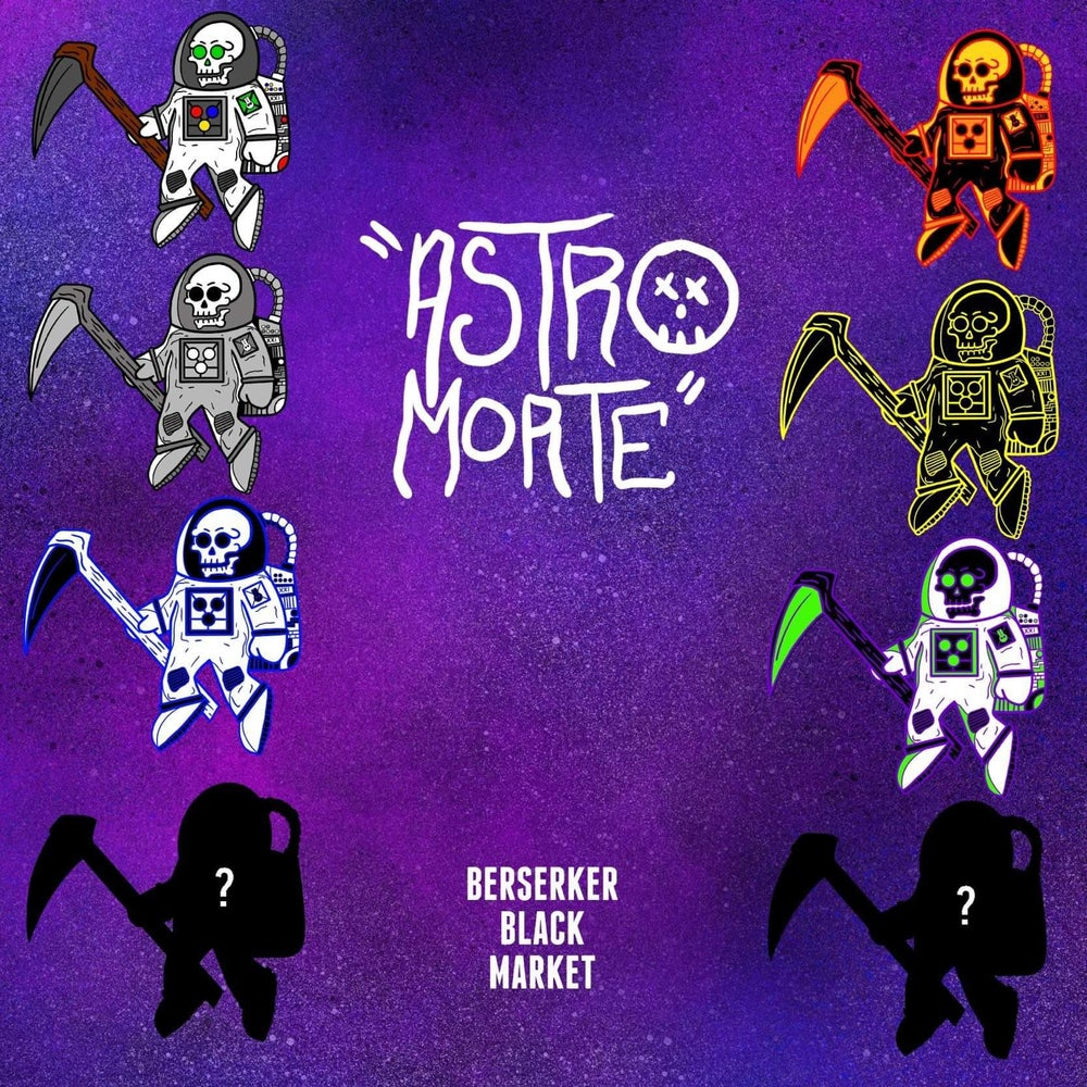 """Astro-Morte"" 2.25"" Enamel Pin (Blind Bag)"