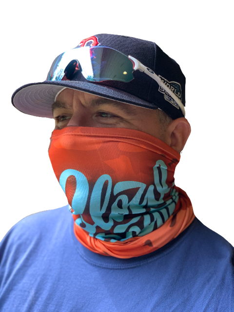 Image of Slowdown Neck Gaiter (buff) Orange Camo
