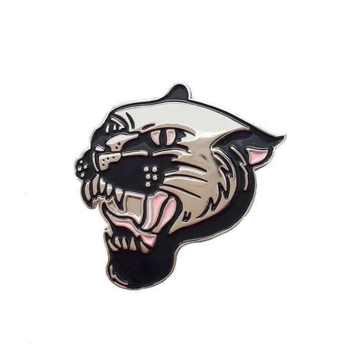 Image of Panther enamel pin badge