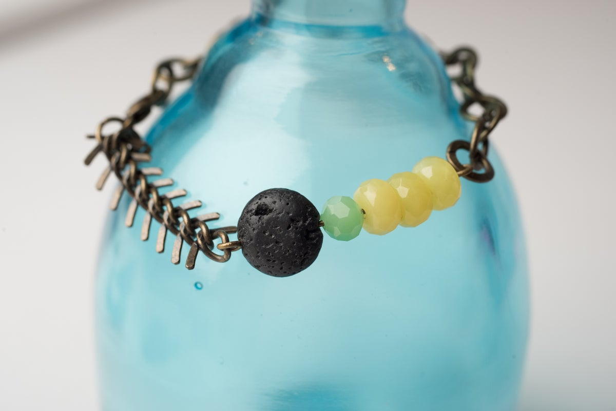 Image of Antique Brass Citrus Squeeze Bracelet