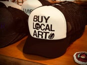 "Image of ""BUY LOCAL ART"" Trucker Hat"