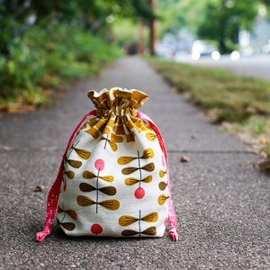 Image of Lined Drawstring Bag PAPER Pattern