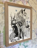 Image 3 of Red Fox, Black Raven,  Rattlesnake & Ginkgo Leaves