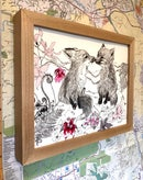 Image 3 of Kissing Red Fox Cubs (Print)
