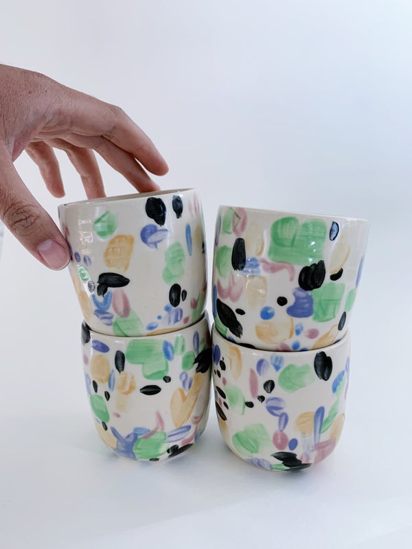 Image of Painted cups