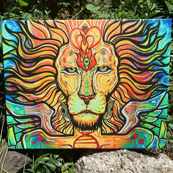 Image of Awakened Lion Spirit canvas print