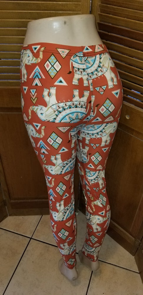 Image of Burnt orange Elephant Leggings