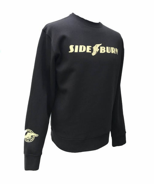 Image of Flat Track Crewneck Sweat - Black