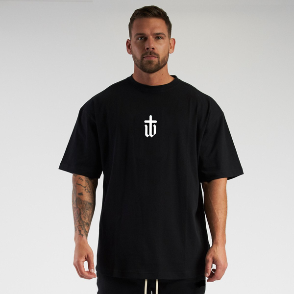 Image of OVERSIZED BLACK TEE