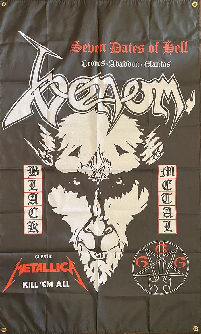 "Image of Venom "" Seven Dates Of Hell "" Flag / Banner / Tapestry"