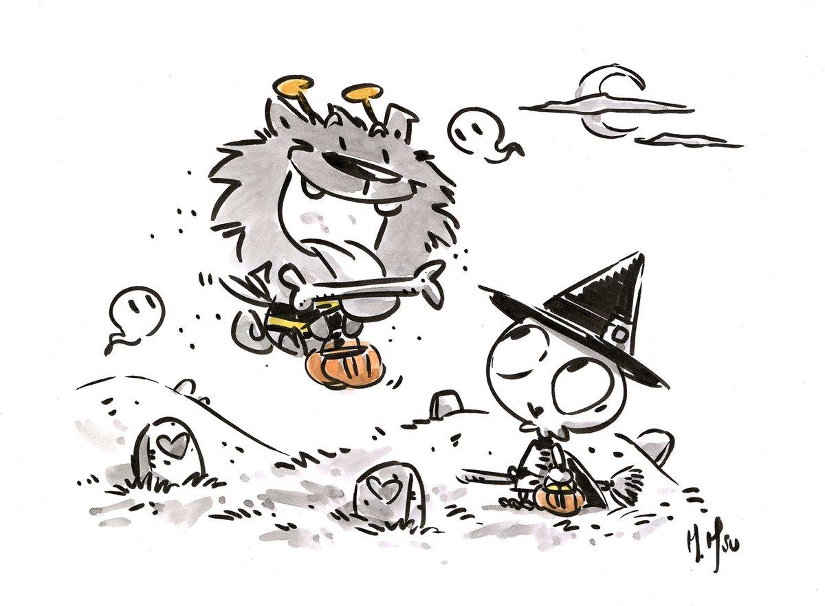 Spooky Friends 3-Pack Prints