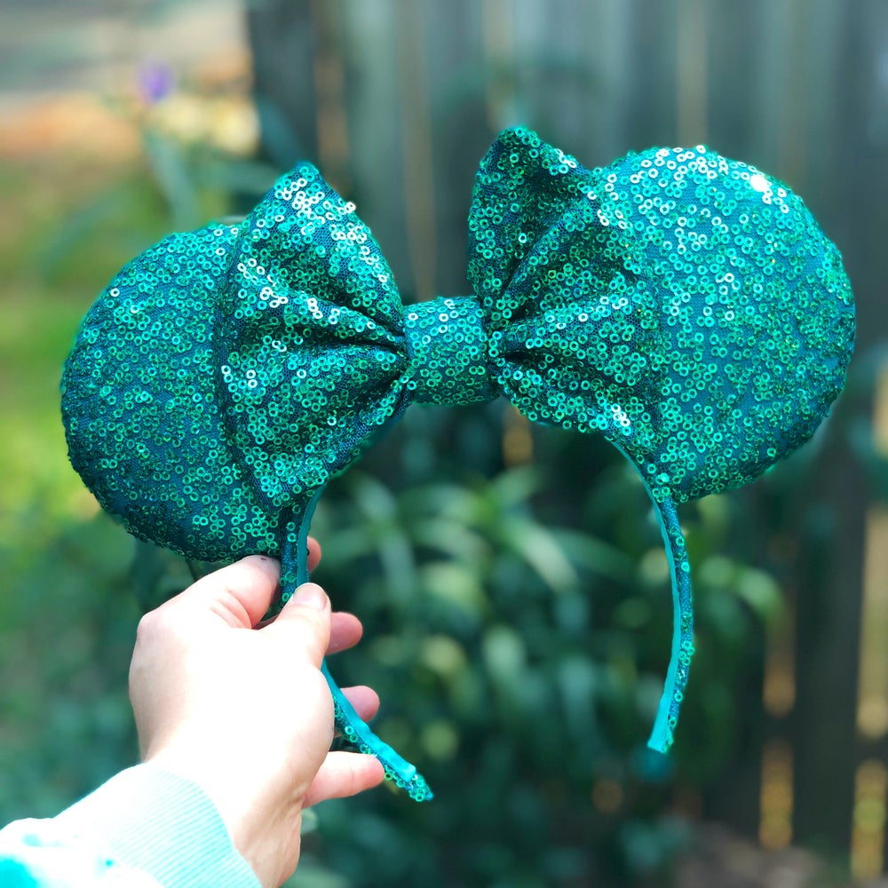 Image of Holographic Teal Sequin Ears