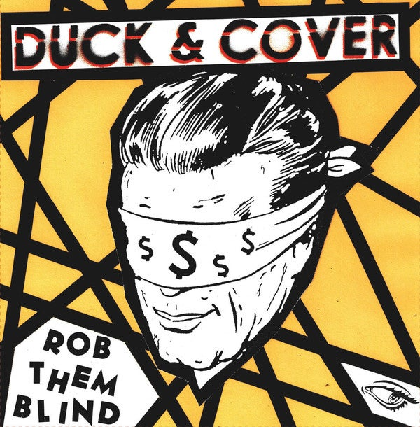 "Image of Duck & Cover - Rob Them Blind 7"" (blue or clear vinyl)"
