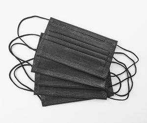 Black Pleated Mask *Disposable