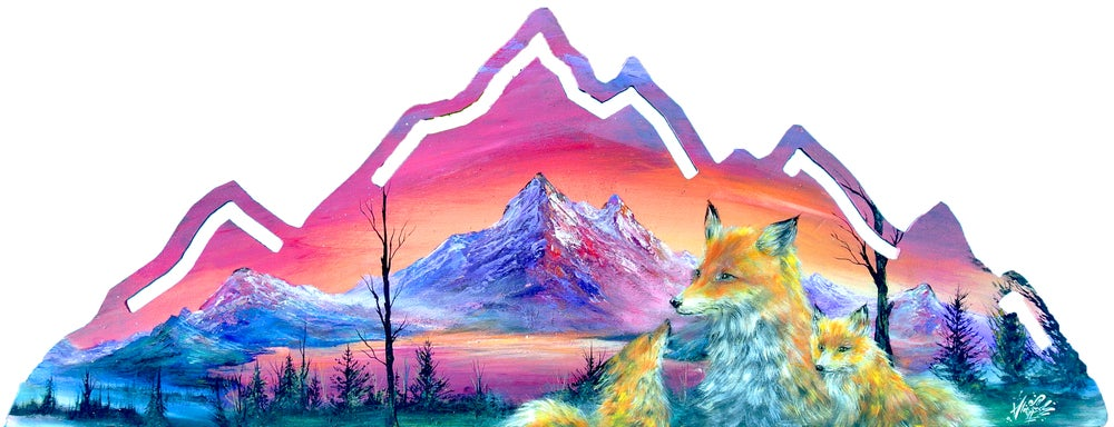 "Image of ""Red Fox Summit"" Original Painting"
