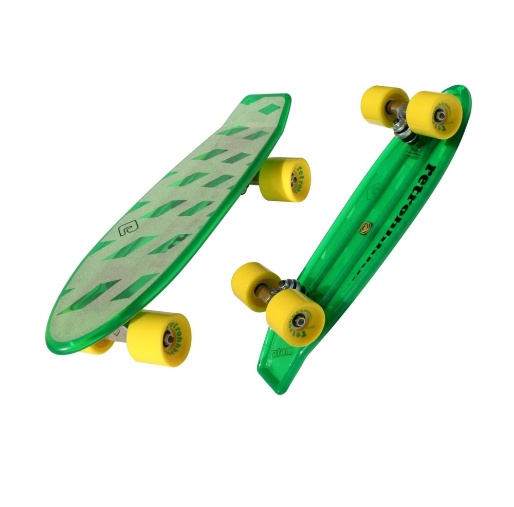 "Image of Atom 21"" Mini Retroh Molded Skateboard - Green - MSRP $59.95"