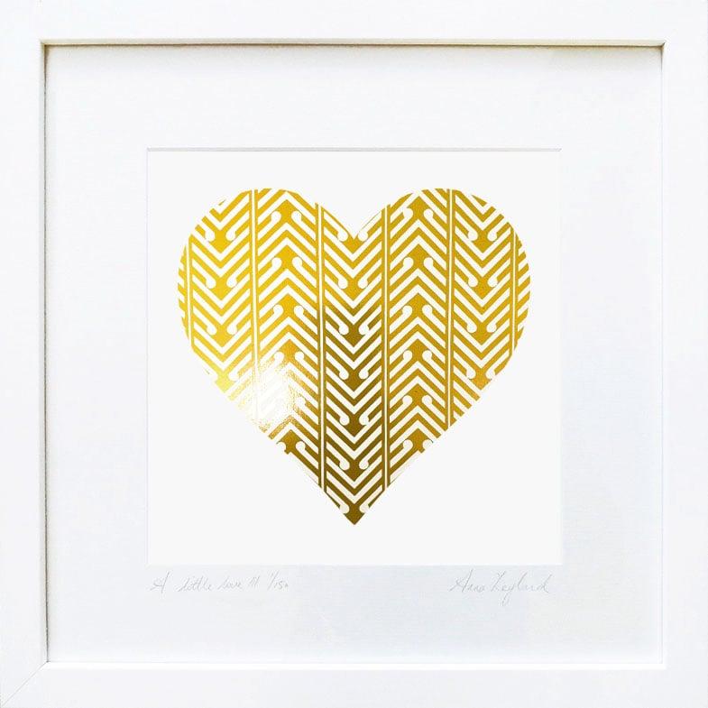 Image of 'A Little Love II' & 'A Little Kiss II' in Gold
