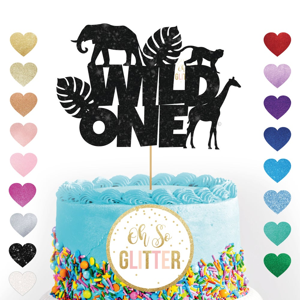 Image of Wild One animal - cake topper