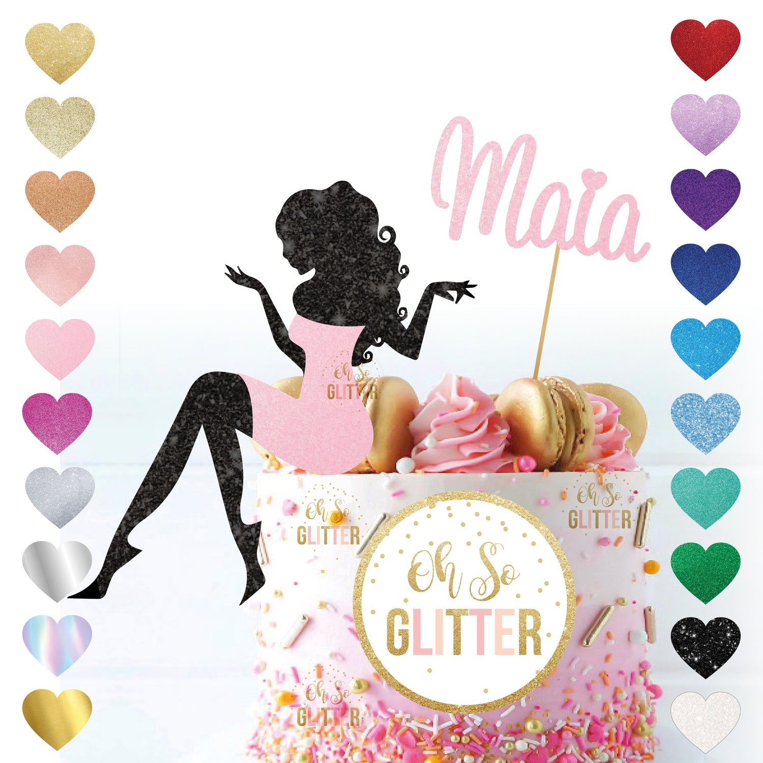 Image of Lady Silhouette Cake Topper