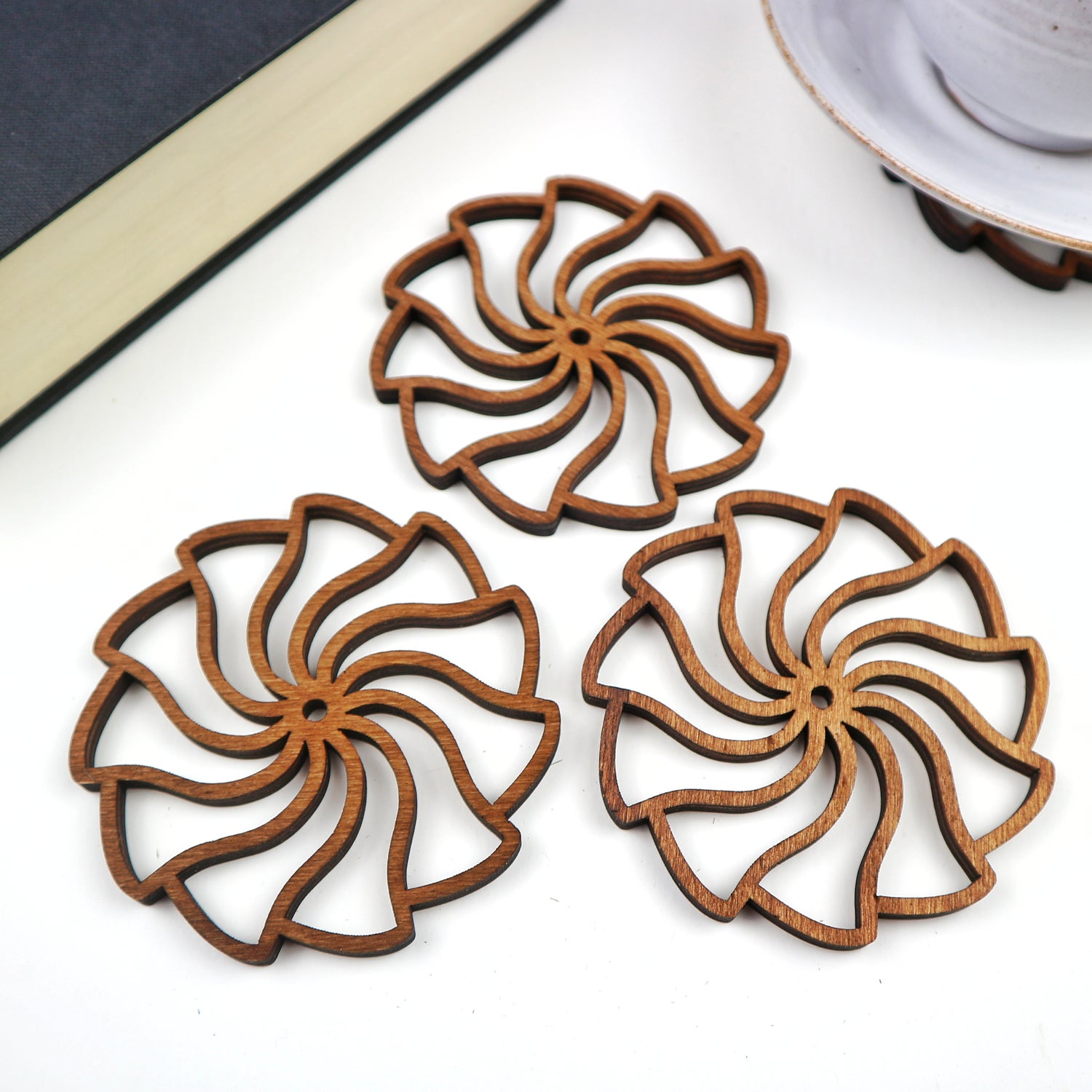 Image of Spiral Wave Drinks Coasters - Boxed Set of 4