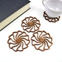 Spiral Wave Drinks Coasters - Boxed Set of 4