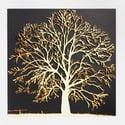 Woodcut Oak Tree - Framed