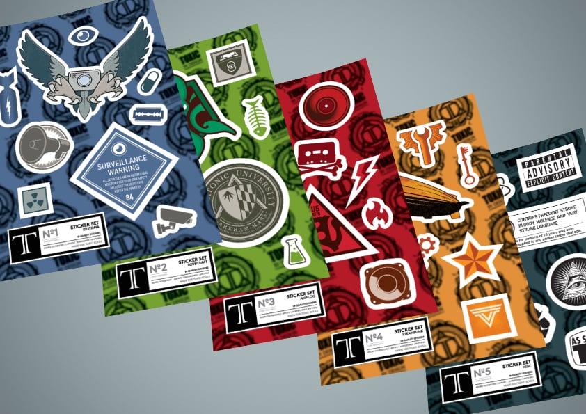 Image of Vinyl Sticker Sheets (pack)