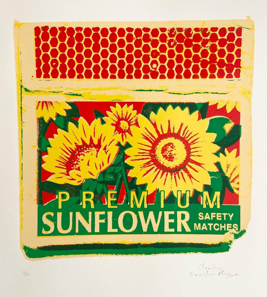 Image of Premium Sunflower Safety Matches  by Charlie Evaristo-Boyce.