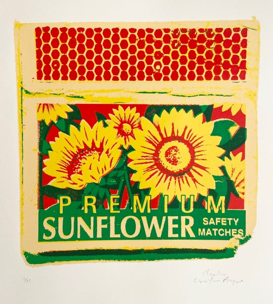 Image of Premium Sunflower Safety Matches  by Charlie Evaristo-Boyce.