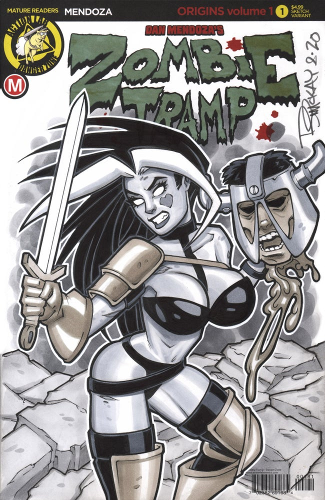 Image of Zombie Tramp Taarna 1/1 Copic Marker Sketch