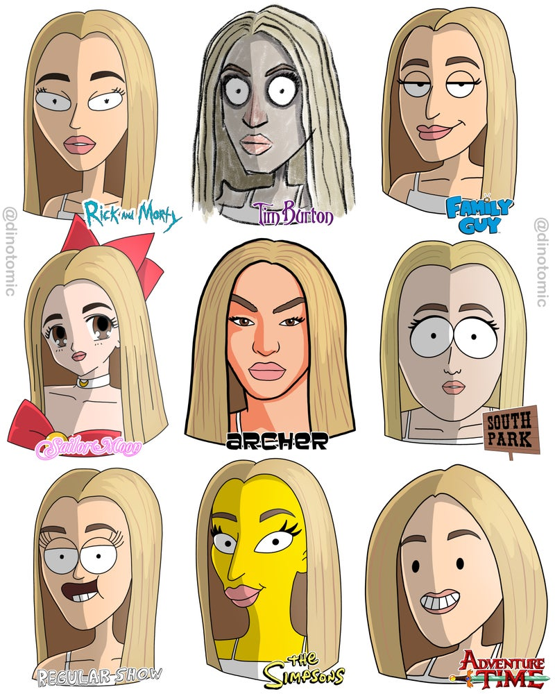 Image of #249 Pabllo Vittar in 9 styles