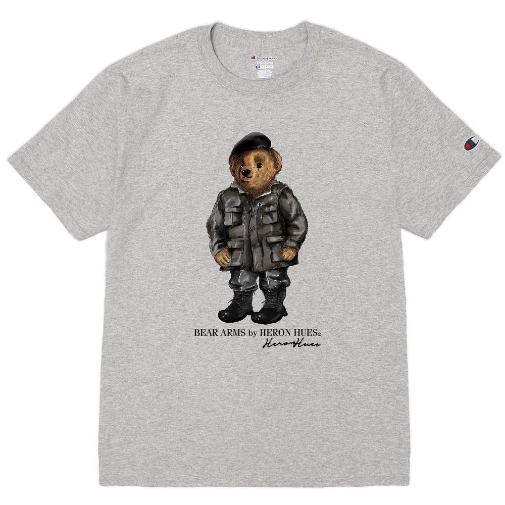 Image of Bear Arms Grey T shirt