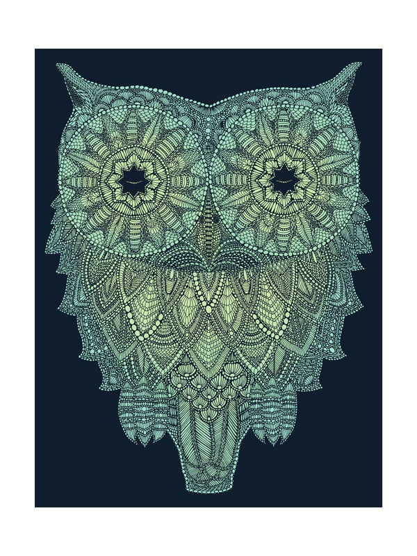 Image of Night-time owl  40x30cm
