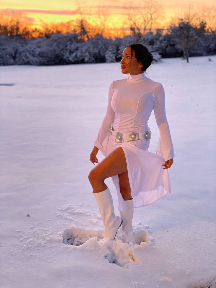 Image of Leia on Hoth autographed print