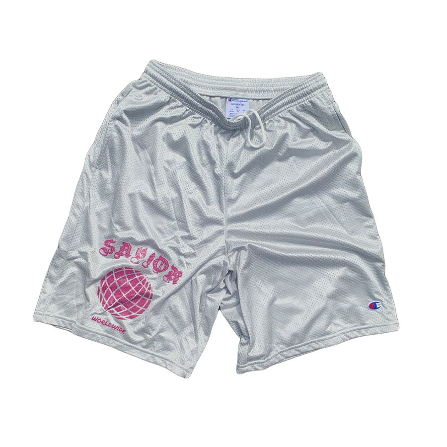 Image of THE SAVIOR WORLDWIDE SHORTS SILVER