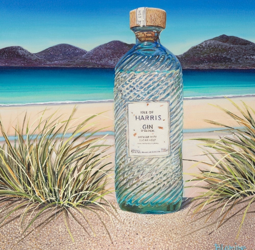 Image of Harris gin o'clock giclee print