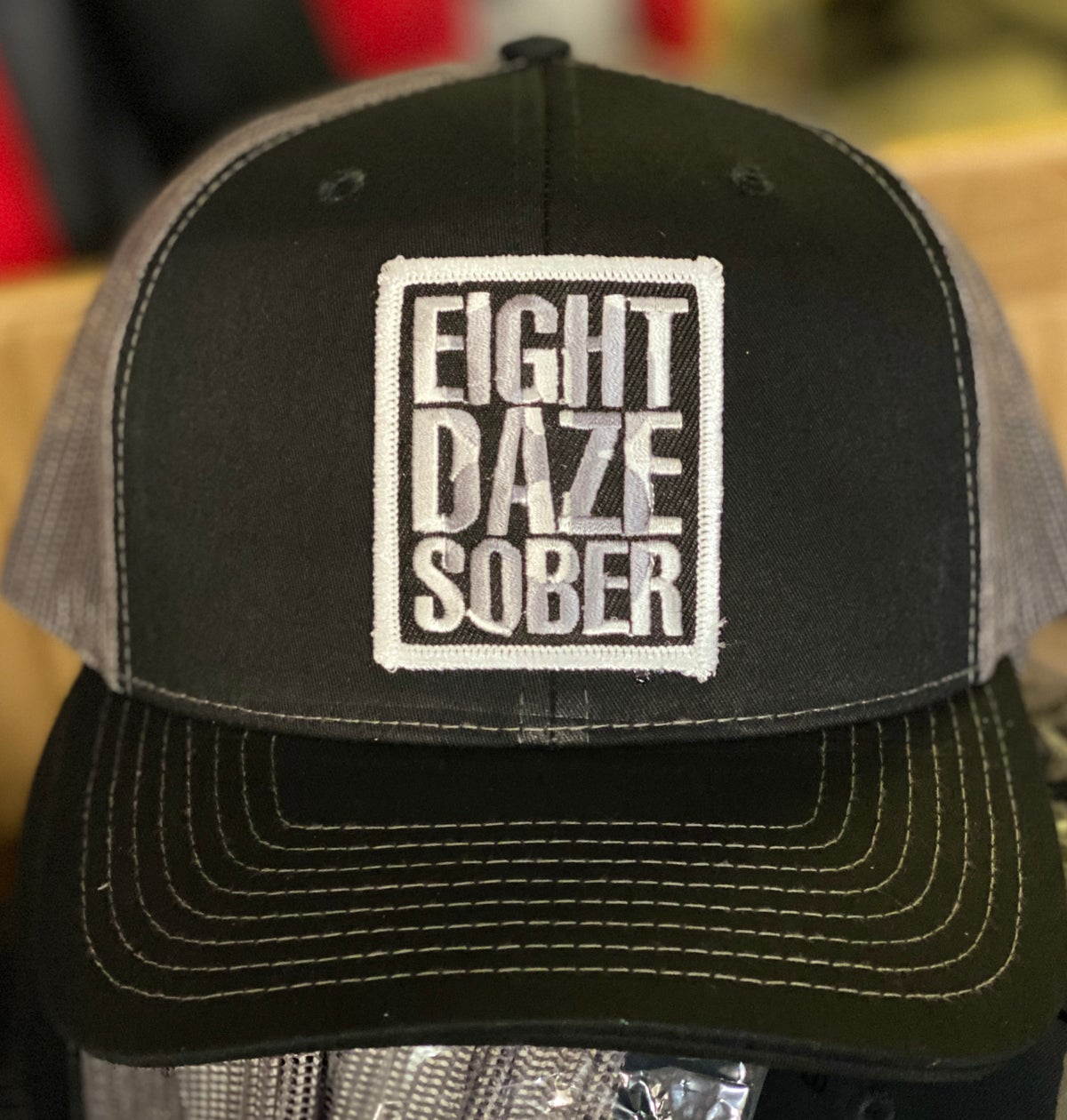 Image of 8 Daze Sober Trucker hat