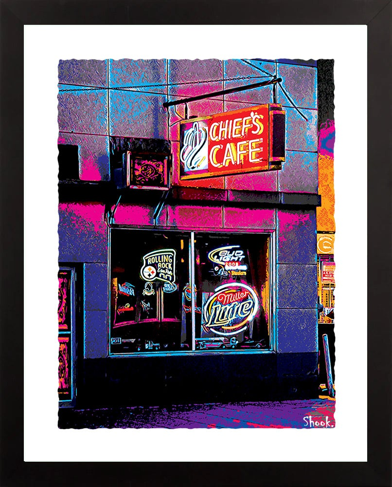 "Chief's Cafe Pittsburgh Giclée Art Print - 11"" x 14"""