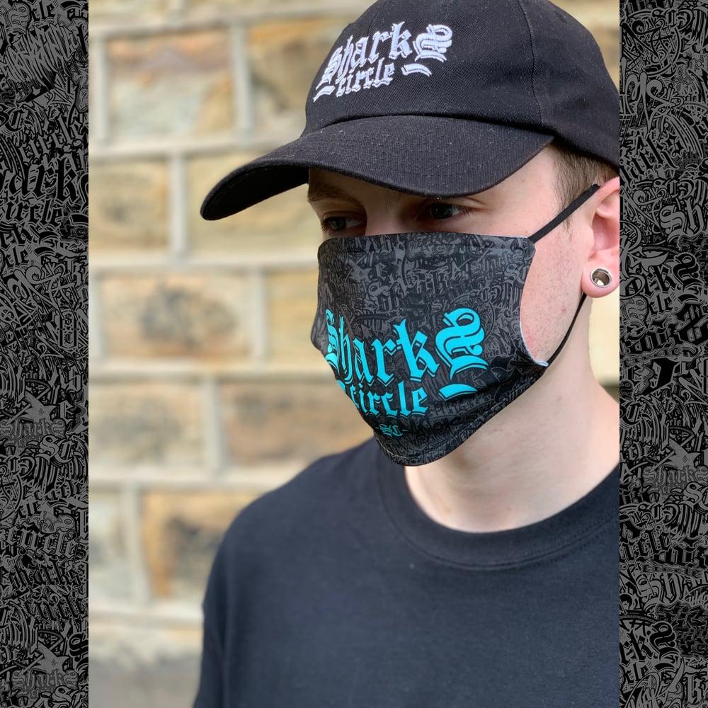 Sharks Circle Face Mask