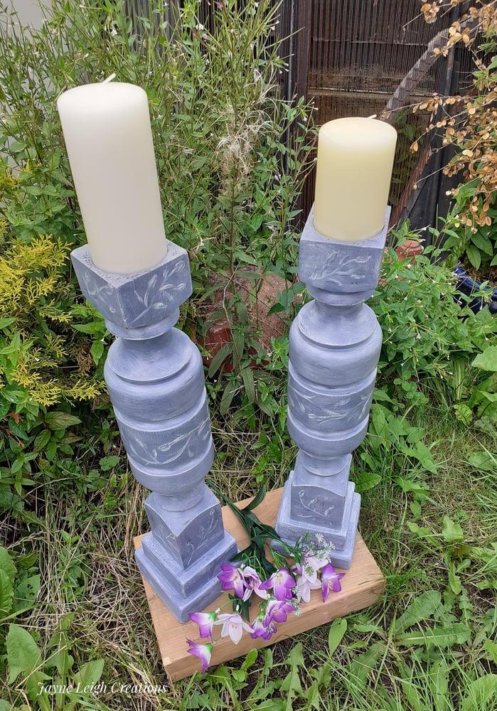 Image of Elegant Hand Made Candlesticks