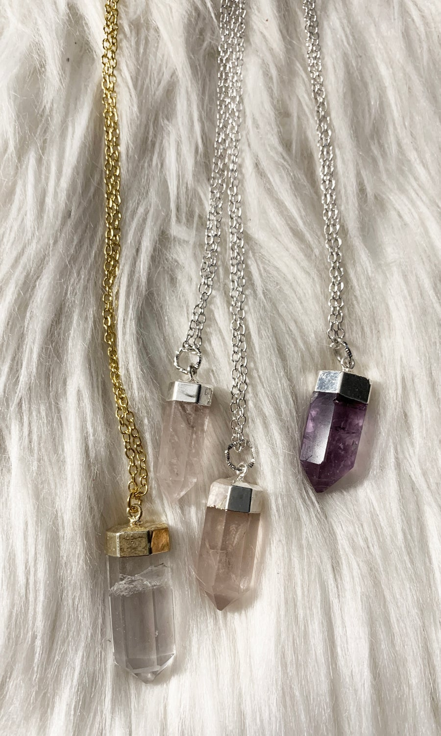Image of CRYSTAL LONG NECKLACE