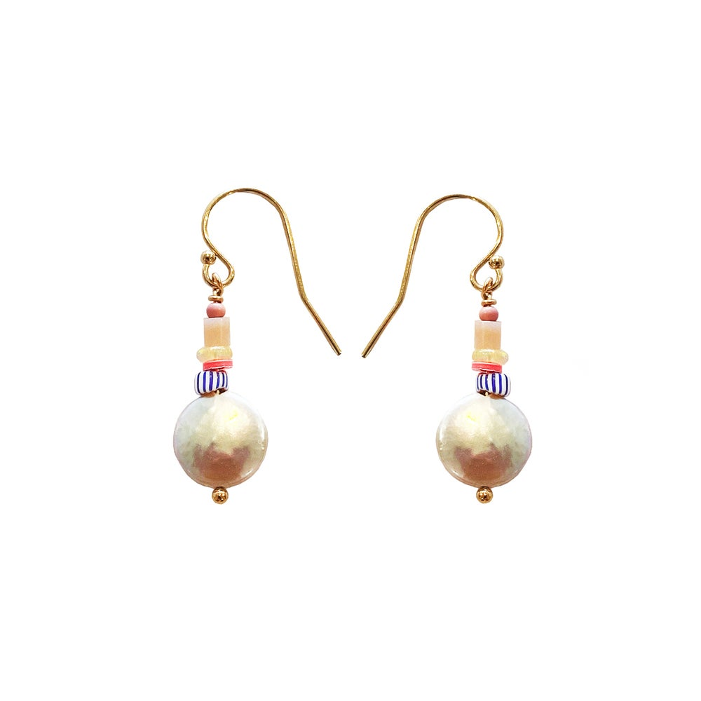 Image of Gold Filled Pearl Earrings