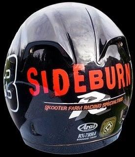 Image of Sideburn logo sticker
