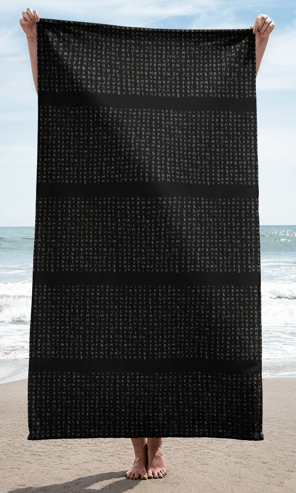 Image of STRIPED RUNE BEACH TOWEL