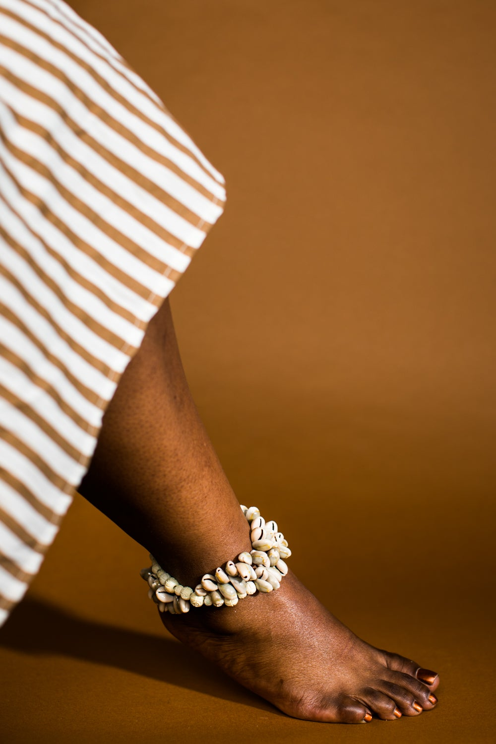 Image of Bead and Cowrie - Double Wrap Anklet