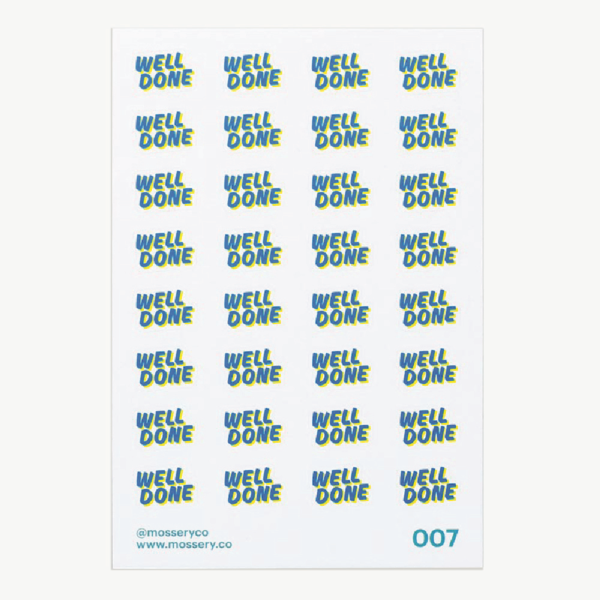 Image of Well Done Stickers