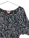 Vintage Missoni Abstract Cityscape Print Top