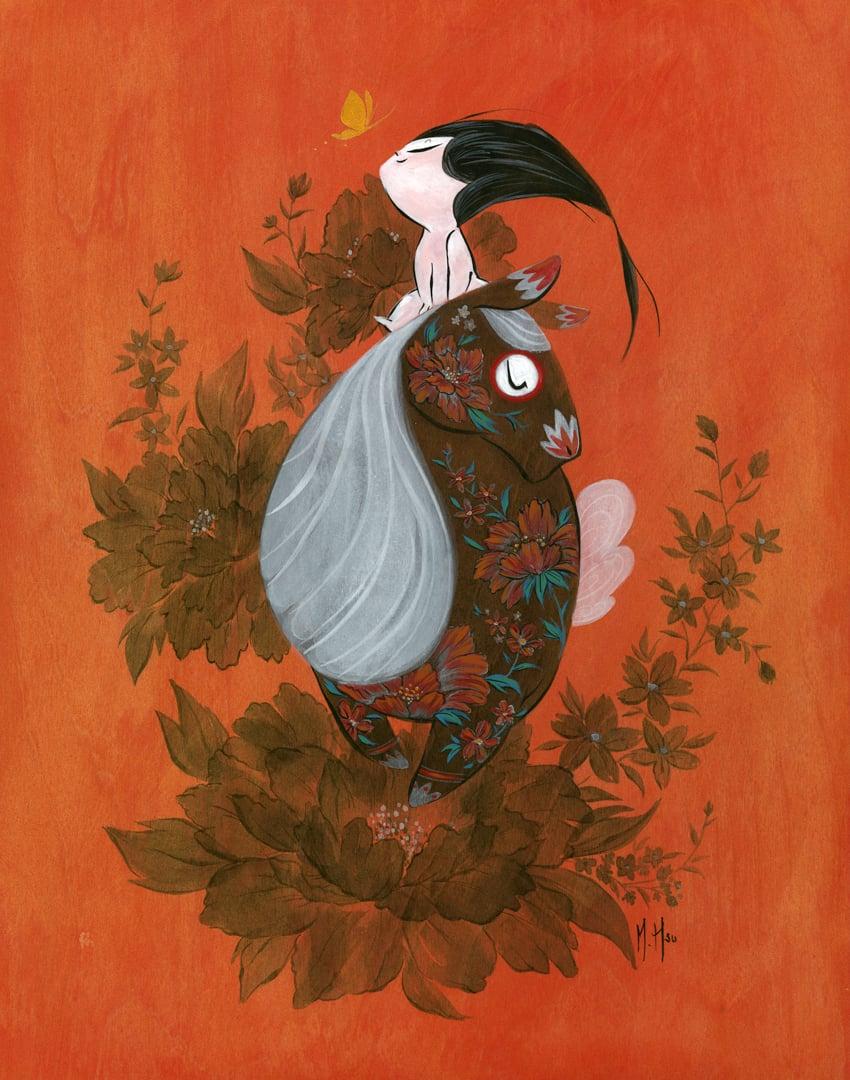 """Baby Mulan 11 x 14"""" Print"""