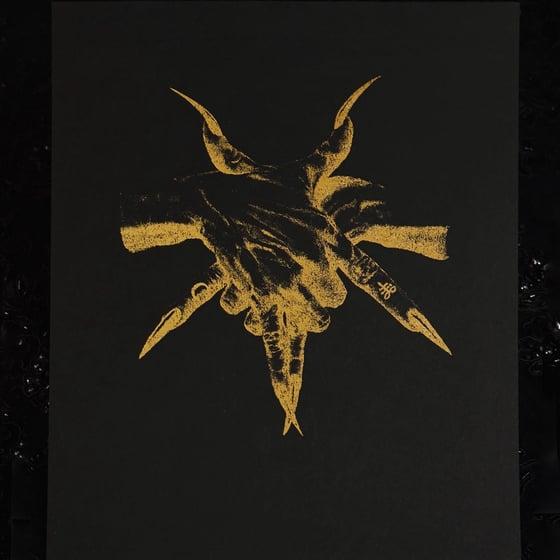Image of Gold or rose gold Foil Pentagram Hands print